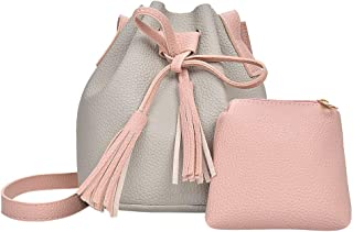 Kwok Fashion Women Casual Shoulder Bag Bucket Bag Daughter Package Crossbody Bag Messenger Bag Shoulder Bag Wallet Mobile Phone Bag