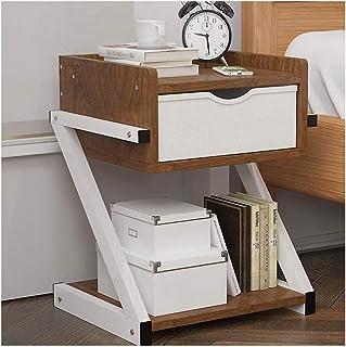 Tables de Chevet Chambre Nordique Table de Chevet Table de Chevet en Bois avec tiroirs Organisateur Armoire de Rangement M...