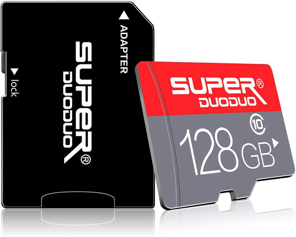 128GB Micro SD Card with SD Card Adapter (Class 10 High Speed), 128GB SD Memory Card for Phone, TF Memory/MicroSD Card for Camera Computer Game Console, Dash Cam, Surveillance, Drone (128GB-HK)