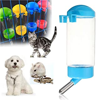 SOCHII 400ML Portable Pet Automatic Drinking Water Fountain Waterer Feeder Bottle for Small Cat Dog Rabbit Hamster Gerbil