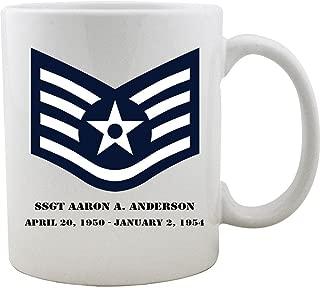 Customizable Air Force Staff Sergeant Rank Coffee Mug