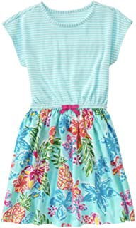 Gymboree Little Girls Floral and Stripe Cotton Dress, XS 4