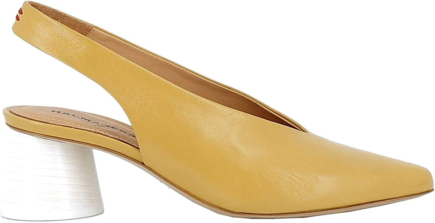 HALMANERA Women's GRACE10YELLOW Yellow Leather Sandals