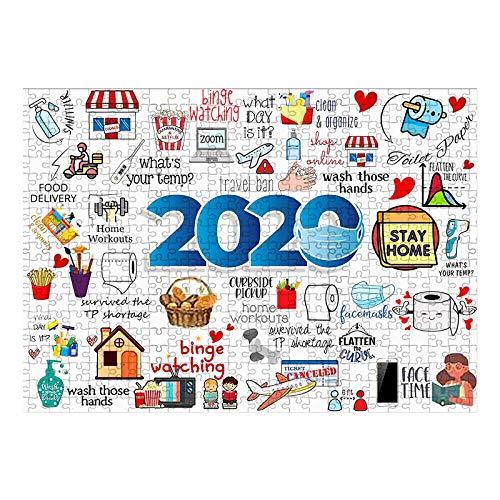 Puzzle 1000 Teile, Klassische Puzzle für 2020 Event-Review Puzzle, Baustein Puzzle Spielzeug, Hölzernes Puzzles für Erwachsene und Kinder, Lernspielzeug, Weihnachtspuzzle Jigsaw Puzzle 1000 PCS (E)