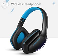 Kotion Each B3506 Wireless Bluetooth Headphone with Mic (Black/Blue)