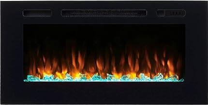 Camino elettrico kiana richen, illuminazione a led, effetto fiamma 3d e telecomando EF172D