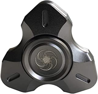 Hand Spinner Gears Linkage Design Fidget Gyro Toy Metal Fidget Spins Long Time EDC Focus Meditation Break Bad Habits ADHD With Premium Bearing (4 Gears Black)