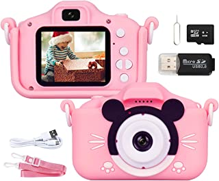 HELPLEX Appareil Photo Enfant, Apareille Photo Numerique Enfant HD 1080P, 2,0 Pouces, Enregistreur vidéo 20MP, Caméras Dou...