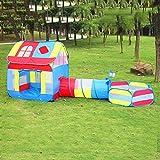 Kinderzelt mit Krabbeltunnel,3 IN 1 Kinderzeltspielhaus, DREI-in-Eins-Kombination...