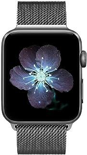COVERY コンパチブル apple watch バンド,ミラネーゼループ コンパチブル アップルウォッチバンド コンパチブルアップルウォッチ3 ステンレス留め金 コンパチブルapple watch series 4/3/2/1に対応 (38mm,40mm,スペースグレー)