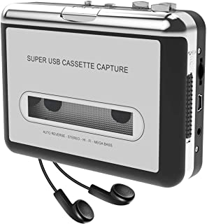 DIGITNOW! Cassette tape MP3 conversion player cassette tape digitized USB converter, portable cassette players