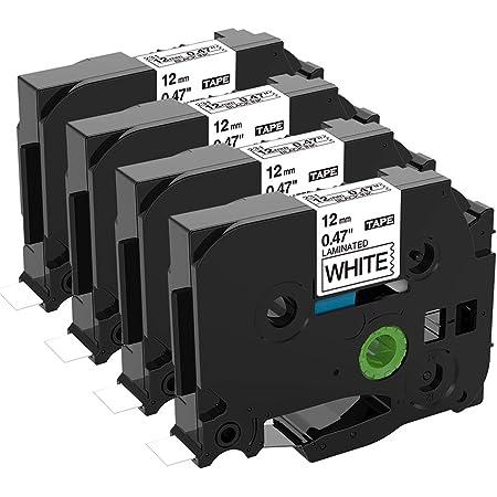 3x Labelwell 24mm x 8m Sostituzione Nastro Compatibile per Brother Tz TZe-S251 TZeS251 Nero su Bianco Adesivo Rinforzato per Brother P-Touch PT-E500VP PT-P900W PT-P950NW PT-D600VP PT-P750W PT-H500LI
