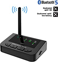 Giveet 265FT Long Range Bluetooth Transmitter Receiver with Audio Pass-Thru for TV Stereo, aptX HD & Low Latency, 3-in-1 Wireless AUX Adapter with Digital Optical 3.5mm RCA, Always On, Plug & Play