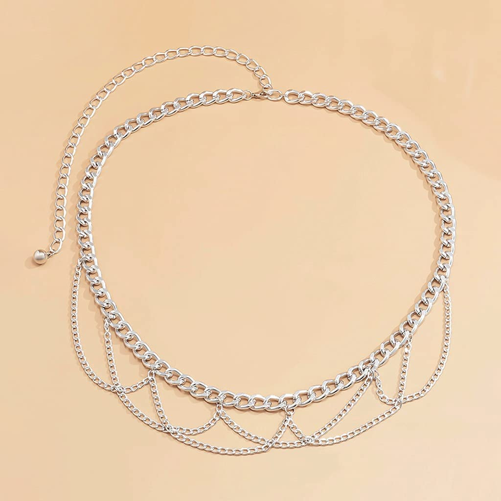 NJBYX Multilayer Chain Belts At Nashville-Davidson Mall the price of surprise for Waist Women Su Body Metal