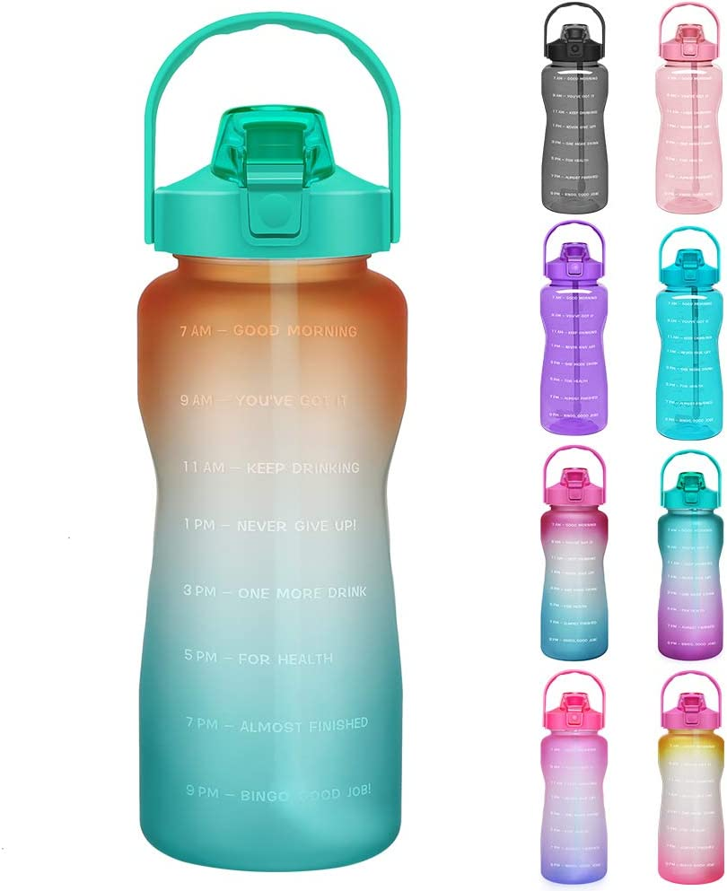 20 Oz BPA Free Non-Toxic Tritan Plastic Water Bottle with Leak Proof Flip Top Lid for Gym Yoga Fitness Camping Opard Sports Water Bottle
