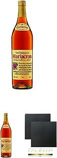 Mariacron Weinbrand 3,0 Liter  Mariacron Weinbrand 3,0 Liter  Schiefer Glasuntersetzer eckig ca. 9,5 cm Durchmesser 2 Stück