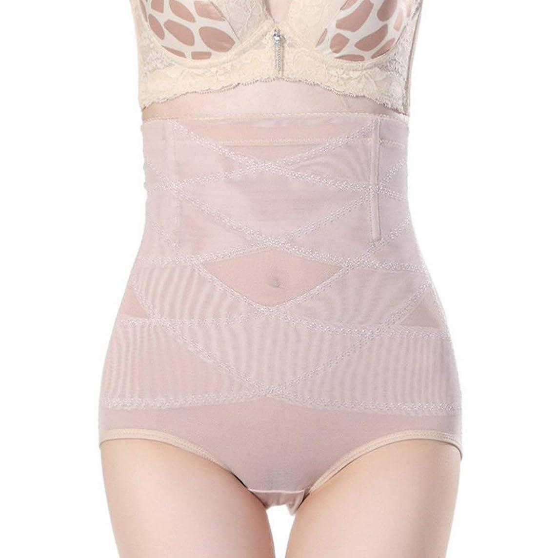 フランクワースリー水曜日大きい腹部制御下着シームレスおなかコントロールパンティーバットリフターボディシェイパーを痩身通気性のハイウエストの女性 - 肌色L
