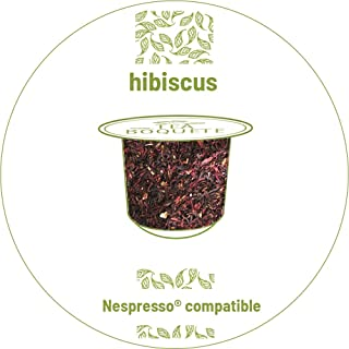 Hibiscus tea pods Nespresso compatible. Pack of 20 capsules