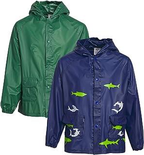 Lilly of New York Baby Boys' Rain Coat - Hooded Rain Slicker Shell (2 Pack)