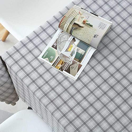 GHGD Mantel Impermeable De PVC De 140X200 Cm, Manteles Pastorales De Campo, Mantel De Plástico A Cuadros Sólido, Cubierta, Decoración del Hogar