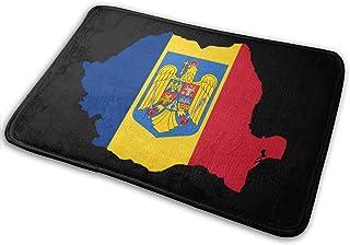 Amanda Walter Mapa del Emblema de Rumania Bienvenido Alfombrilla Antideslizante para Garaje Patio Áreas de Alto tráfico Al...