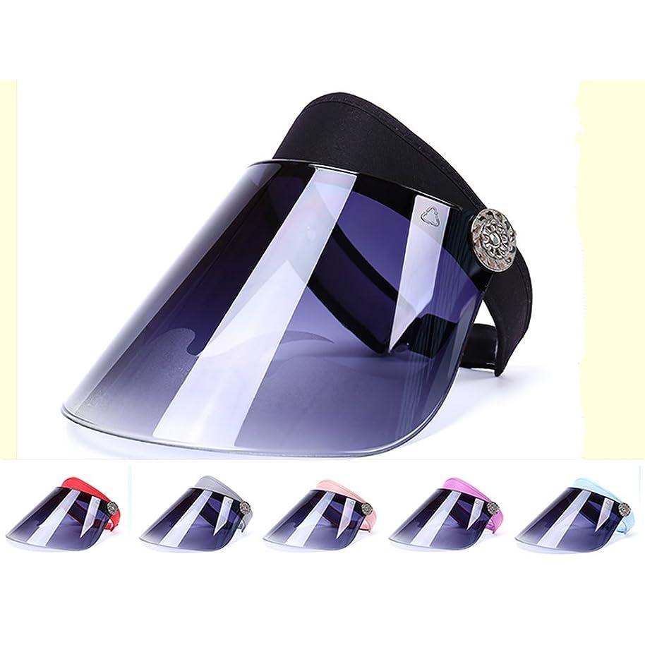 サンバイザー 日避け帽子 日焼け防止 紫外線対策 UVカット 美 容 肌の美白 自転車 キャップ 夏 男女兼用 つば広 レインハット レインバイザー 360角度調整可能 高耐久性 フルフェイス (青い) UPF50+