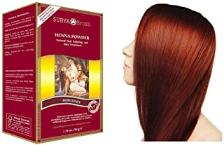 Surya Brasil Products Henna Powder, Burgundy, 1.76 Ounce