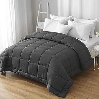 ILAVANDE Comforter, All Season Microfiber Queen Comforter-Down Alternative Quilted Bed Comforter-Soft and Comfortable Queen Size Comforter-Machine Washable Bedding Comforter (Queen, Grey)