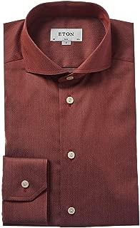 Mens Slim Fit Dress Shirt, 39, Orange