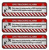 Finest-Folia, 3 adesivi GPS per bicicletta, moto, auto, adesivi con effetto antifurto, adesivo con scritta in lingua inglese che avverte sulla presenza di un dispositivo di tracciabilità