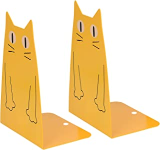 Cat Metal Bookend, Kioneer 1Pair Cute cat Fashion Style Bookend for School Library Shelf Home Office Decoration (Cat Metal...