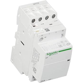 4P 25A 220V 50Hz Montaje en Riel DIN Mini 2NO 2NC Contactor de CA Dom/éstico Walfront