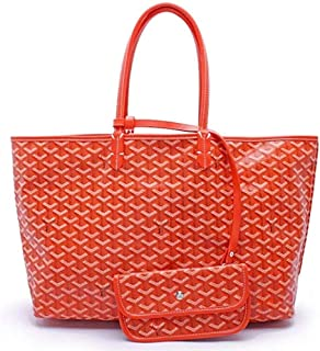 "Shoulder Bag Women Large Tote Purse Classic Travel & Shopping Top Handle Handbags Shoulder Bags Handbag Clutch (Color : Orange, Size : 21"" x 11"" x 6"")"