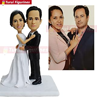 wedding cake topper interracial couple bobblehead mini me couple statue custom pet bobblehead dolls custom sports bobble head