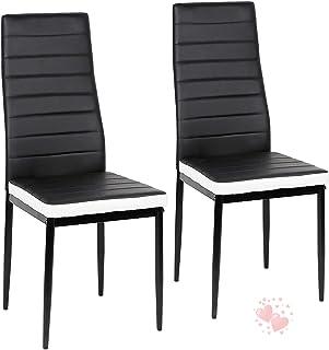 YIZHE Set de sillas Cantilever,Juegos de Muebles, 2X Sillas de Salón Comedor Modernas,2 Piezas Sillas de Comedor Sillas de Oficina Conferencia, para Oficina, Cocina, Dormitorio