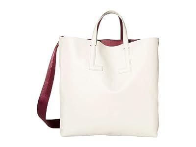 Lacoste Fashion Show Tote Bag (Coral Red/Transatlantic Blue) Tote Handbags