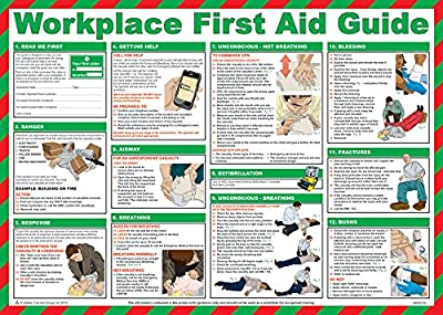 Safety First Aid Group First Aid at Work Guide Poster - Laminated (59 x 42cm) from Safety First Aid