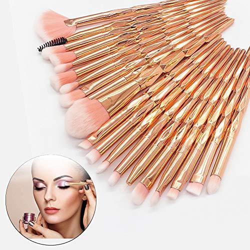 20pcs Makeup Pinsel Set, Lidschatten Make Up Pinsel Set Pulver Foundation Rouge Lidschatten Blending...