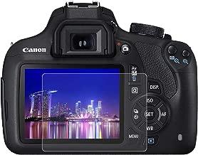 BYbrutek Protector de Pantalla de Vidrio Templado para Canon 1200D/1300D, 0,3 mm, Ultratransparente, Lámina de protección LCD con Dureza 9H, Antiarañazos, sin Burbujas, Antihuellas (1200D/1300D)
