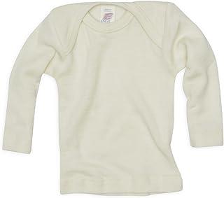 Engel Baby Unterhemd langarm, 70% Wolle kbT 30% Seide, Engel natur