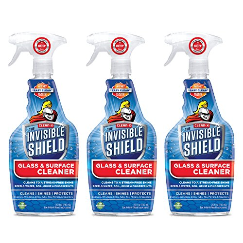 glass cleaners Invisible Shield Glass & Surface Cleaner and Repellent 25 fl. oz. Cleans and Protects against future dirt on multi surfaces by UNELKO- Clean-X Invisible Shield (3)