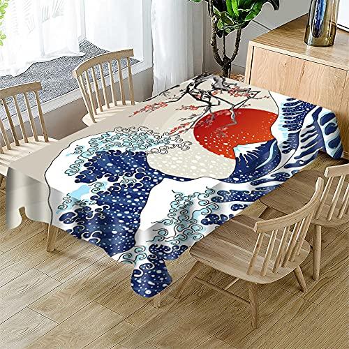 Mantel navideño Rectangular Cocina Mantel navideñopara mesas de Interior o Exterior, Fiestas de cumpleaños, Bodas, Navidad 120 x 180cm