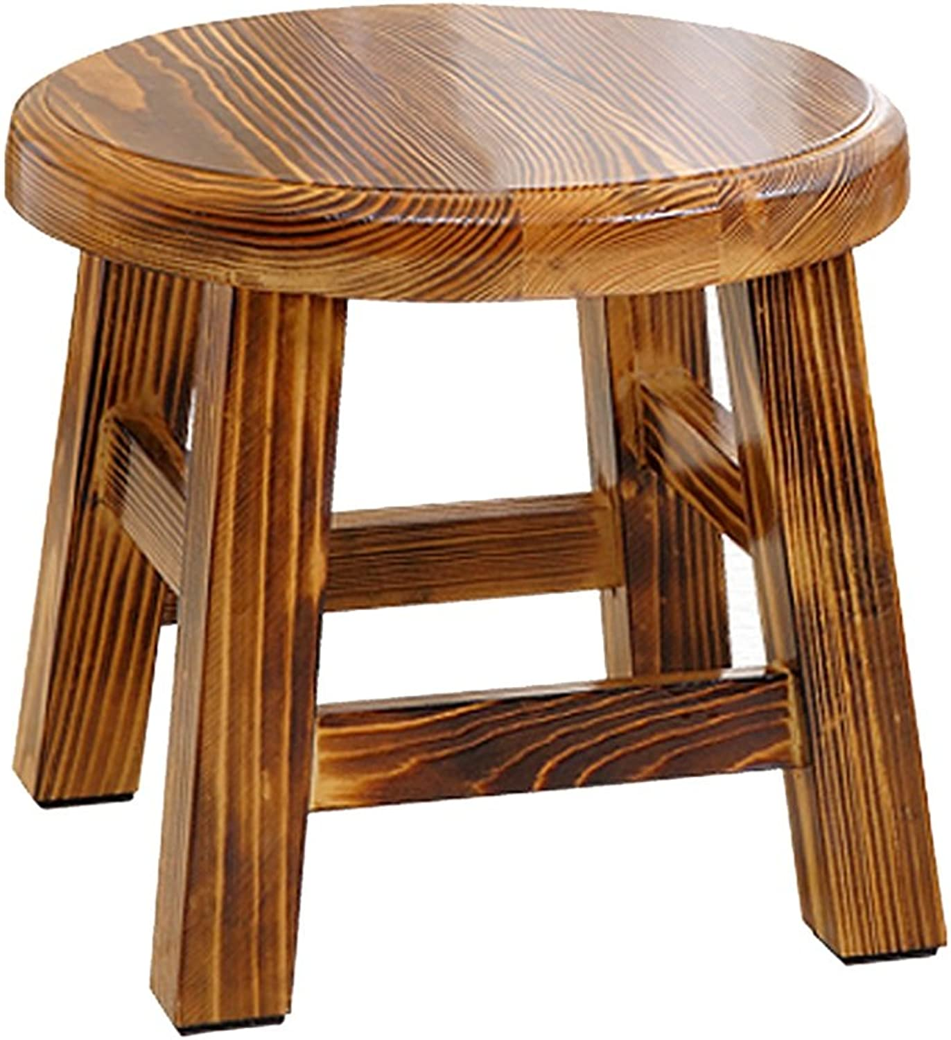 Solid wood stools home stools fashion solid wood stools shoe stools living room stools adult stools lightweight and convenient ( color    b )