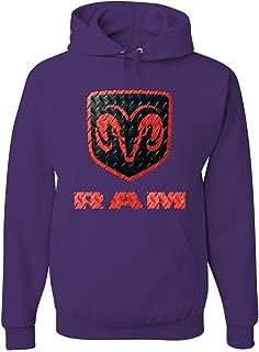 Tee Hunt Black & Red Dodge RAM Logo Hoodie RAM Hemi Pickup