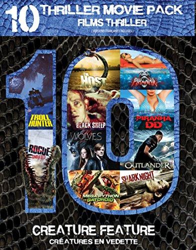 Piranha / Troll Hunter / Black Sheep / Outlander / Shark Night / The Host / Piranha DD / Rogue / Wolves / Mega Python VS. Gatoroid (10-Thriller Movie Pack)