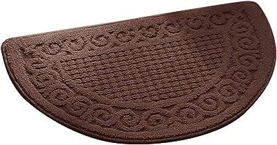 Olpchee Half Round Non-Slip Kitchen Bedroom Toilet Doormat Floor MAT, Coffee