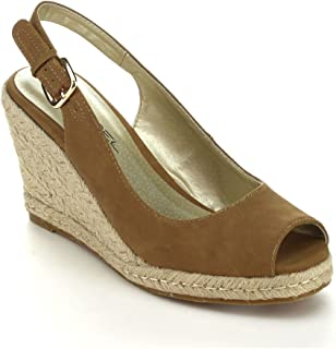 C LABEL Rollin-4 Womens Espadrille Sling Back Wedge Sandals