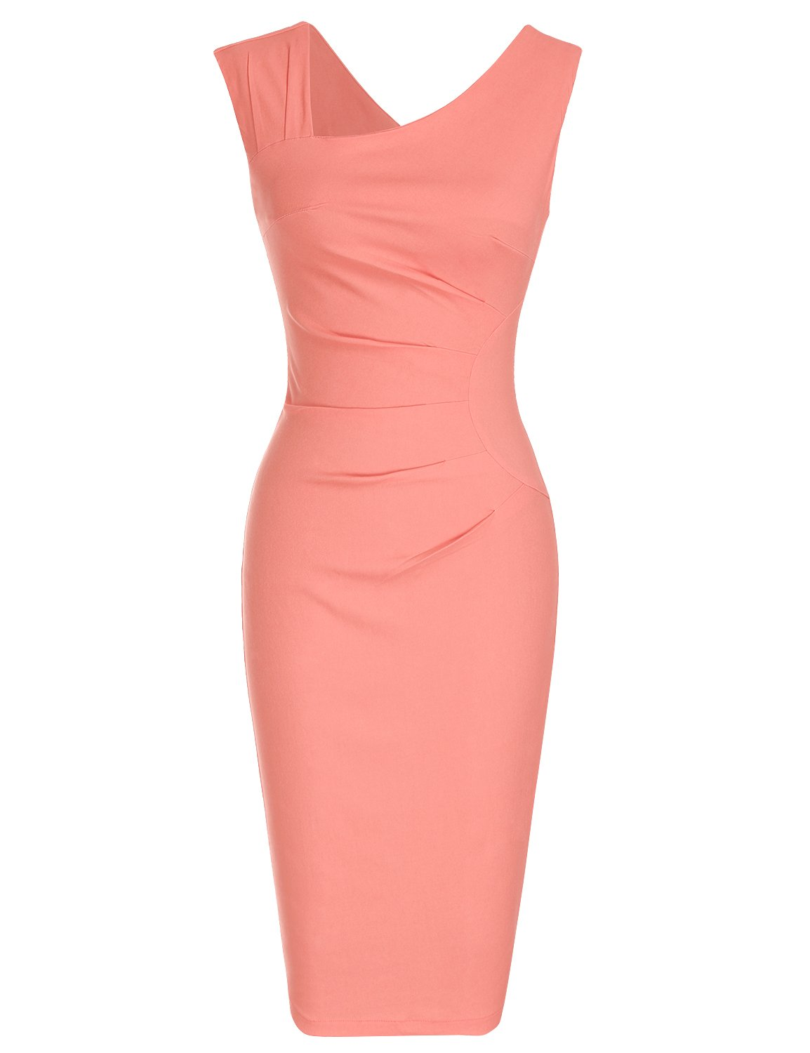 Wedding Guest Dresses - Women's Dresses Sexy Ruffle One Shoulder Sleeveless Split Bodycon Midi Party Dress