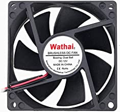 Wathai 80x80x25mm 80mm Dual Ball Bearing DC Cooling Fan 12V 2Pin