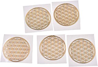 Qlychee Sacred Geometry Copper Orgone Sticker Flower Life Tree DIY Energy Tower Material